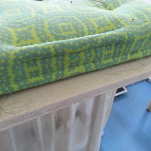 galette façon matelas ancien vert