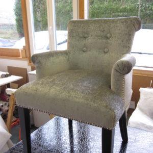 fauteuil contemporain argent